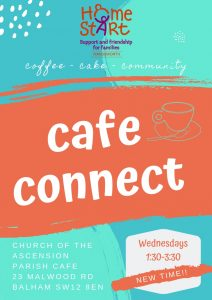 Cafe Connect @ Parish Cafe, Church of the Ascension, 23 Malwood Road, SW12 8EN