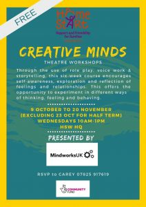 Creative Minds Theatre Workshops @ Home-Start Wandsworth HQ