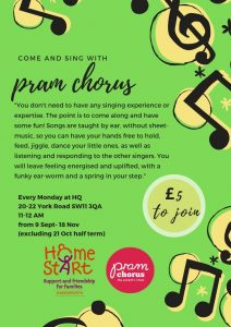 Pram Chorus open to volunteers and families @ Home-Start HQ