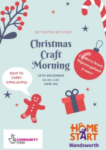 Christmas Craft Workshop @ Home-Start HQ Battersea Methodist Building